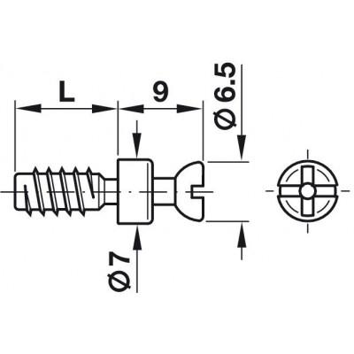 Болт за директен мотаж във Ø5 мм RAFIX-SE - HAFELE - Цена: 0.17 лв.