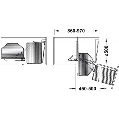 Изтеглящ се механизъм за ъглов шкаф - HAFELE - Цена: 916.27 лв.