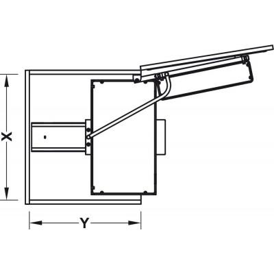 Изтеглящ се механизъм с рафтове и окачени кошници - HAFELE - Цена: 1,217.92 лв.