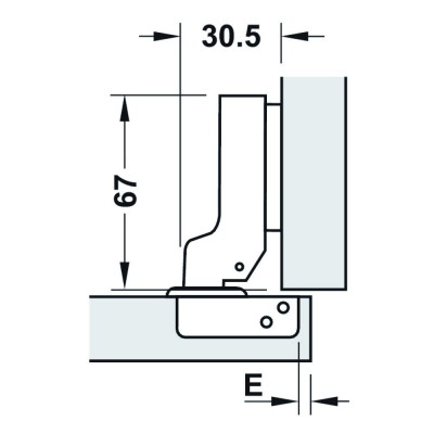 Мебелна панта Metalla SM Combi, 110°, ППК, без плавно затваряне - HAFELE - Цена: 3.16 лв.
