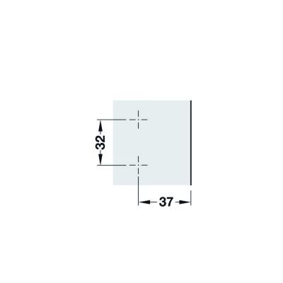 Монтажна пластина Metalla SM Combi, 0 мм - HAFELE - Цена: 0.26 лв.