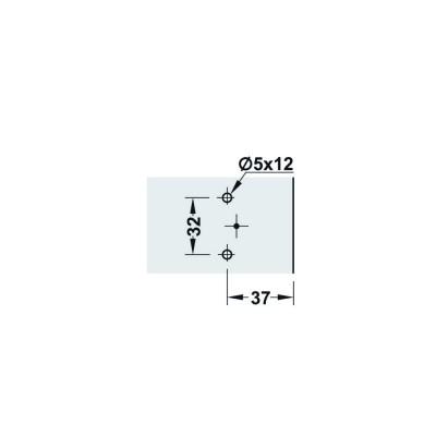 Монтажна пластина Metalla SM Combi, 2 мм - HAFELE - Цена: 0.60 лв.
