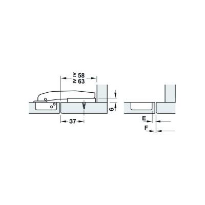 Мебелна панта Metallamat A изхвърляща, за челен фриз, ъг.на отв. 92° - HAFELE - Цена: 4.79 лв.
