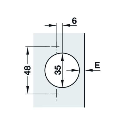 Мебелна панта Duomatic SM изхвърляща, push, 110°, ПК - HAFELE - Цена: 7.25 лв.