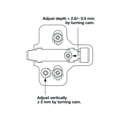 Монтажна пластина Duomatic SM, 3 мм - HAFELE - Цена: 2.36 лв.