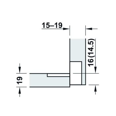 Панта за клапваща се врата, 90° - HAFELE - Цена: 4.13 лв.
