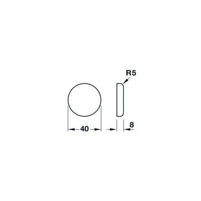 Покривна декоративна капачка, кръгла, хром полиран - HAFELE - Цена: 3.31 лв.