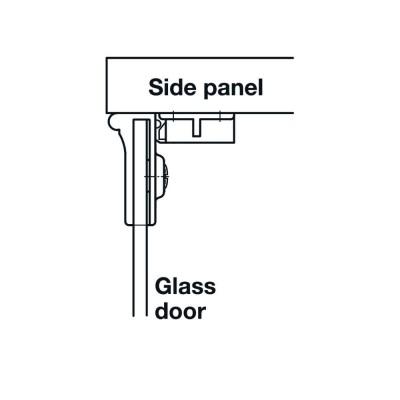 Мебелна панта за врата от стъкло, 170°, ОК, хром полиран - HAFELE - Цена: 14.75 лв.