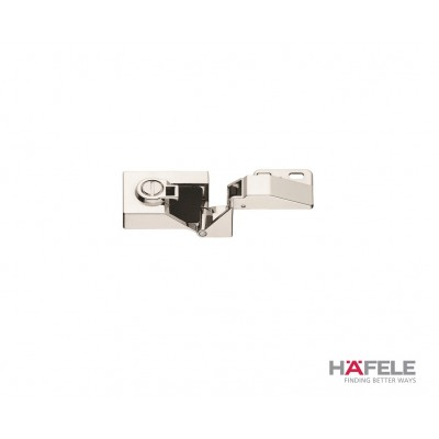 Мебелна панта за врата от стъкло, 170°, ПК, никел полиран - HAFELE - Цена: 13.84 лв.