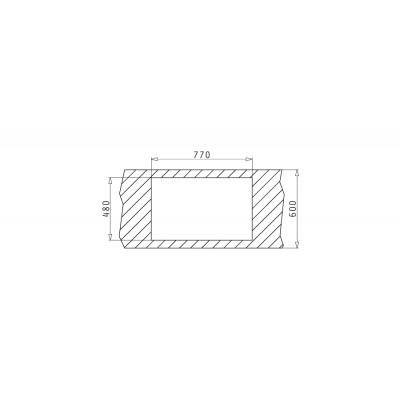 Гранитна мивка ALAZIA (79X50) 2B - PYRAMIS - Цена: 363.00 лв.
