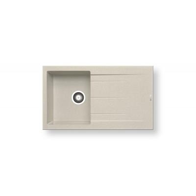 Гранитна мивка ALAZIA (86X50) 1B 1D - PYRAMIS - Цена: 339.90 лв.