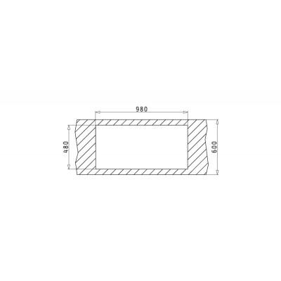 Мивка ALEA 100X50 1 1/2B 1D - PYRAMIS - Цена: 312.00 лв.