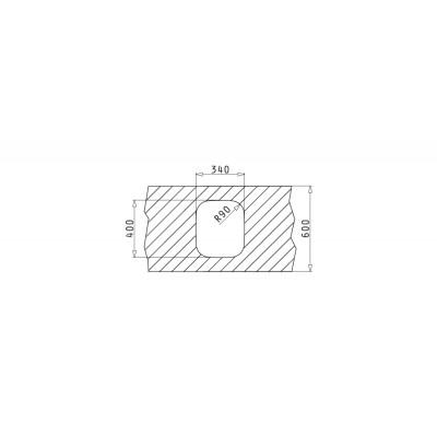 Мивка IRIS (34x40) UM - PYRAMIS - Цена: 105.00 лв.