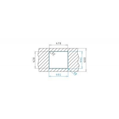 Мивка LUME (45x40) 1B - PYRAMIS - Цена: 328.80 лв.