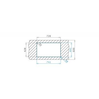 Мивка LUME (70X40) 1B - PYRAMIS - Цена: 396.00 лв.