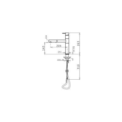 Кухненски смесител VIBRATO - PYRAMIS - Цена: 391.80 лв.