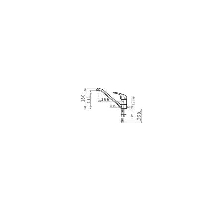 Кухненски смесител FINO - PYRAMIS - Цена: 60.30 лв.