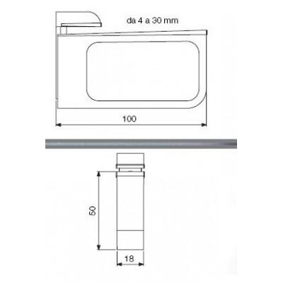 Конзола за рафт с дебелина до 30 мм - Цена: 7.80 лв.