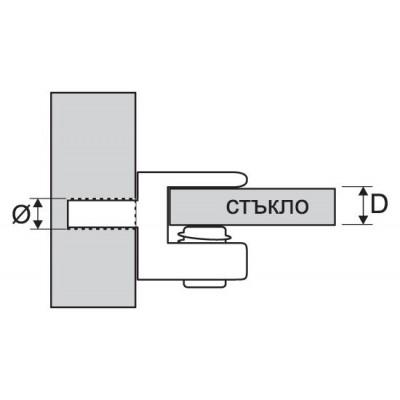 Стъклодържач RU5812N - Цена: 0.54 лв.