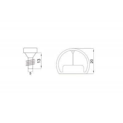 ПВЦ сглобка за рафтове Ø20 - РАФИКС - Цена: 0.10 лв.