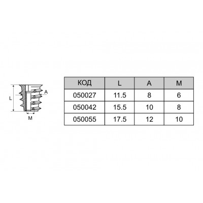 Метален дюбел - Цена: 0.10 лв.