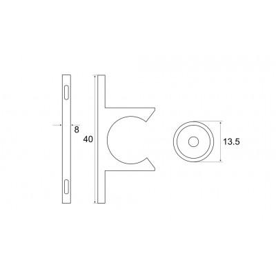 ПВЦ шнапер за врата - Цена: 0.06 лв.