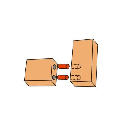 Дървени дибли 8х30мм - Цена: 6,00 лв.с ДДС