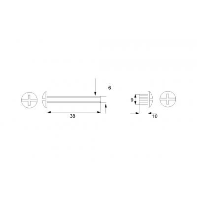 Свързващ болт (метален) - Цена: 0.12 лв.