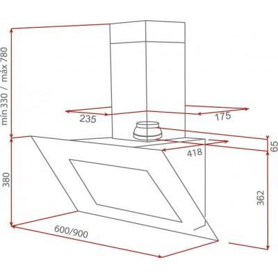 Абсорбатор DVT 60/90 HP Бял - ТЕКА - Цена: 784.80 лв.