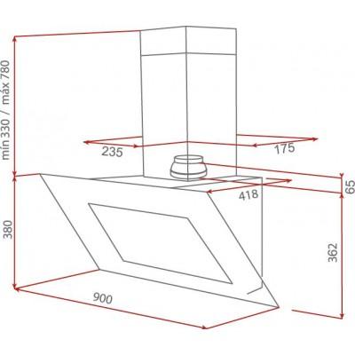 Абсорбатор DVT 90 HP Черен - TEKA - Цена: 918.90 лв.
