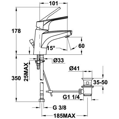 Смесител за баня с керамична глава MT Plus за мивка, нисък - TEKA - Цена: 102.90 лв.