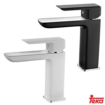 Смесител Formentera, мивка, нисък, станд. ръкохв., бял / черен - ТЕКА - Цена: 318.90 лв.