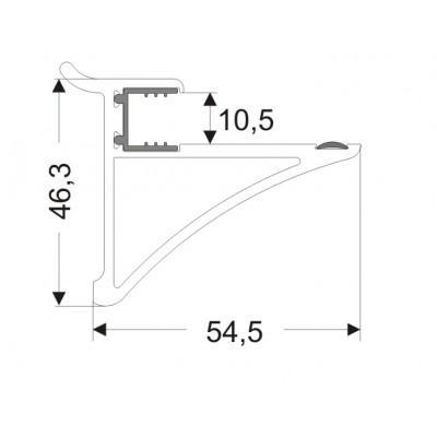 Държач за стъклен рафт 10мм - ZOBAL - Цена: 7.80 лв.