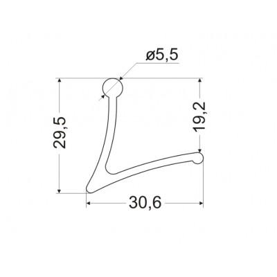 Кука L-6 мм - ZOBAL - Цена: 3.30 лв.