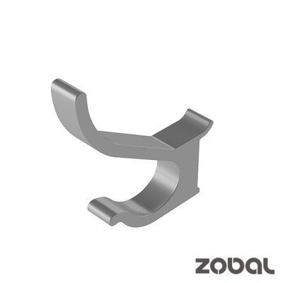 Закачалка за дрехи, единична, 15 мм  -  ZOBAL - Цена: 12.42 лв.
