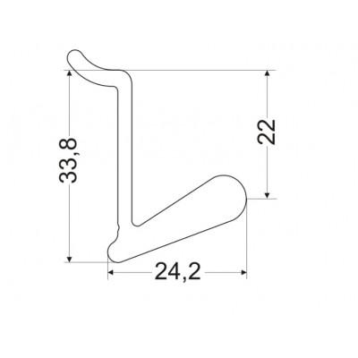 Кука L-15 мм - ZOBAL - Цена: 5.58 лв.