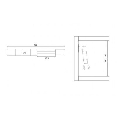 Амортисьор за повдигаща вратичка L=156 - Цена: 1.92 лв.