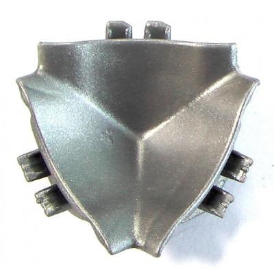 Ъгъл 3D инокс за водобранна лайсна 12х12 REHAU - Цена: 0.48 лв.