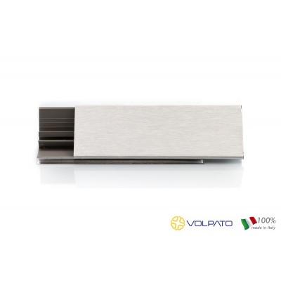 Алуминиева вдобранна лайсна триъгълна,гладка - VOLPATO ITALY - Цена: 20.16 лв.