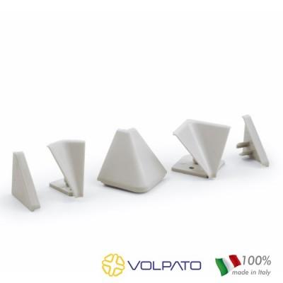 Комплект ъгли и тапи за триъгълен водобран - VOLPATO ITALY - Цена: 1.50 лв.