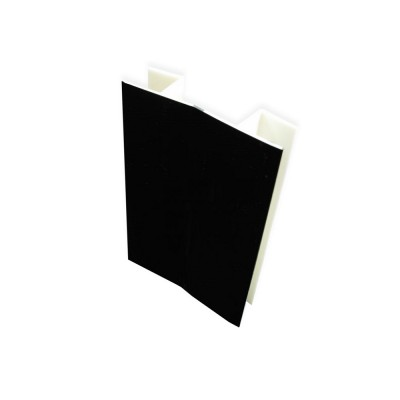 ПВЦ градусов ъгъл за цокъл - черен гланц - Цена: 0.84 лв.
